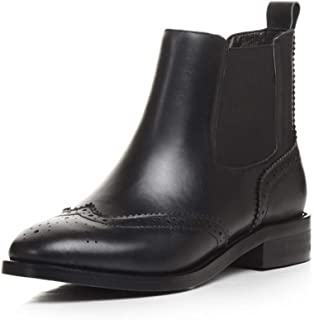 BalaMasa Womens Hounds-Tooth Mule Mule Leather Boots ABM13599
