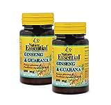 Ginseng & guarana 400 mg. 50 capsulas (Pack 2 unid.)