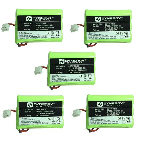 AT&T-Lucent SB67108 Cordless Phone Battery Combo-Pack Includes: 5 x SDCP-H303 Batteries