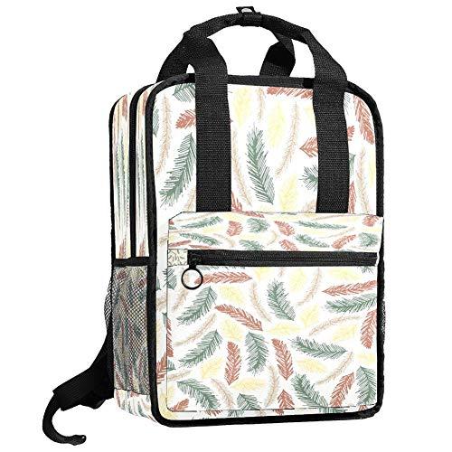 Backpacks Shoulders Bag Artsy tree leaves Backpack traveling middle school high school