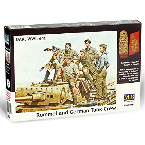 Military Plastic Model Kits to Build for Adults - Rommel and German Tank Crew - Desert Battles in North Africa - WW II Model Kits - 1:35 Scale Military Models