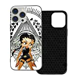 Black Betty Boop with Bimbo Cases for iPhone 12 Fashion Mobile Phone Case Pro Max Full Body Anti-Fall Protective Cover TPU Shockproof Glass Cover for Women