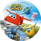 KnBo Tortenaufleger Tortenfoto Aufleger Foto Bild Super Wings (11) rund ca. 20 cm *NEU*OVP*