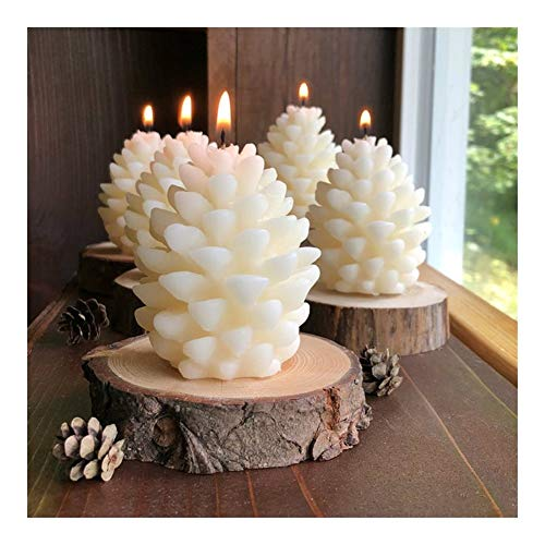 BOJI 3D Christmas Pine Cone Silicone Candle Mold Handmade Candles Beeswax Candle Making Mould