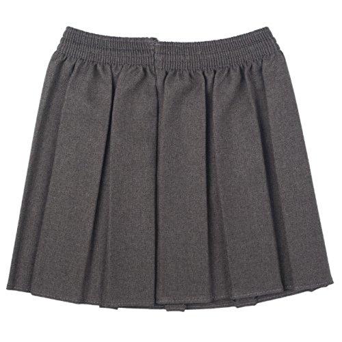 Nueva Ou Niñas Uniforme Escolar Caja Plisado elástico Falda Schoolwear tamaño 2–17yrs