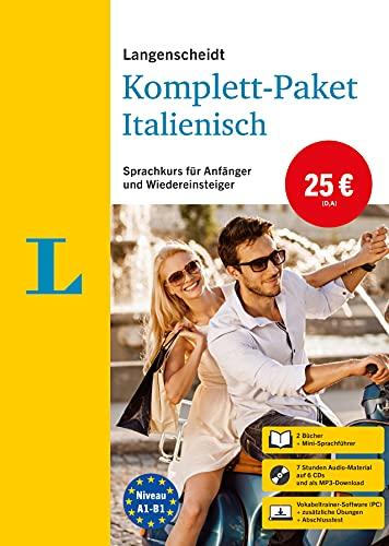 Langenscheidt Komplett-Paket Italienisch: Sprachkurs mit 2 Büchern, 6 Audio-CDs, MP3-Download, Software-Download: Sprachkurs für Einsteiger und Fortgeschrittene