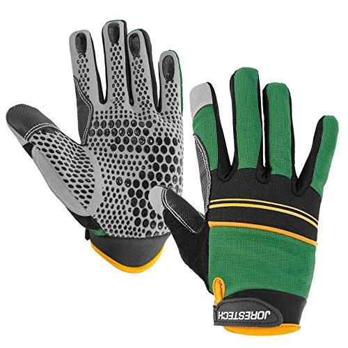 JORESTECH Work Gloves Multipurpose (Extra Large, Green)