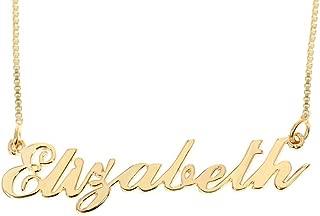 necklace with name elizabeth