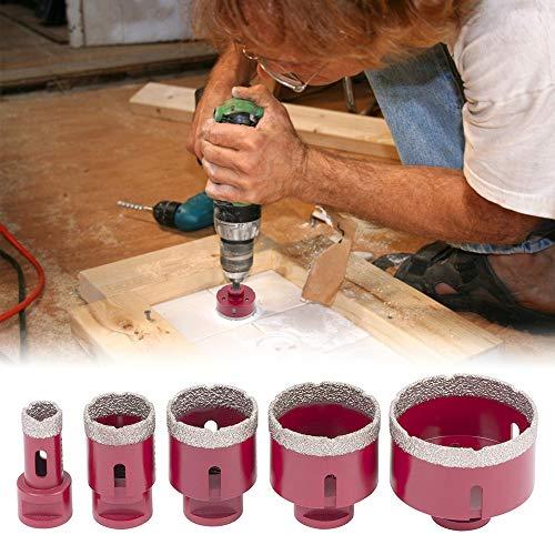 SEAAN Diamantbohrer Diamant Lochsäge Bohrkron Kit 5-tlg mit Karton, 20/35/45/55/72 mm, Fliesenbohrer für Winkelschleifer M14 SET für Glas, Keramik, Porzellan, Fliesen, Marmor, Granit