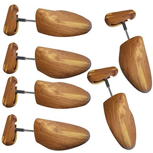 3 PAAR Premium Holzschuhspanner aus edlem Zedernholz Gr. 36 bis 50 für Unisex Schuhpflege Echt-Holz Holzspanner Schuhspanner Schraubspanner Holzschuhspanner Schuhdehner (40 / 41, 3 Paar)