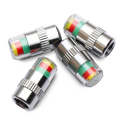 Ankia Auto Reifen Druck Monitor Ventil Stem Cap Sensor Indikator 3 Farbe Eye Alert 4