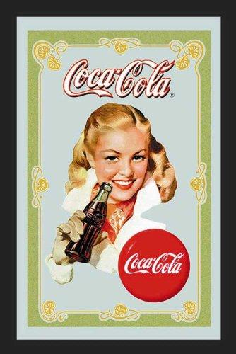 empireposter Coca Cola Portrait - Bedruckter Spiegel mit Kunststoff Rahmen in Holzoptik, Kult-Spiegel - Grösse 20x30 cm