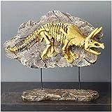 Esqueleto de Dinosaurio Modelo de Animal-Estatua de Dinosaurio jurásico Modelo de Resina de Dinosaurio Modelo de Muestra de fósil de Resina de Esqueleto simulado Modelo de artesanía de Resina Modelo