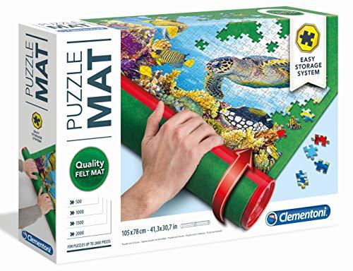 Clementoni-30229 Tapete para Puzzles Color Verde 1