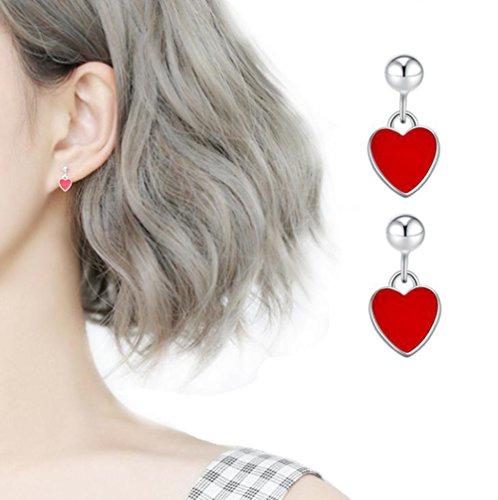 Demarkt Forma de Corazón Pendientes Pendientes Pendientes de Plata Accesorios de Moda para Mujer y niña