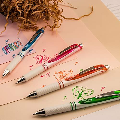 Pentel Pink BCA EnerGel Pearl RTX Gel Pen, 0.5mm, Fine Point, Needle Tip (BLN75WBP2PA) Photo #6