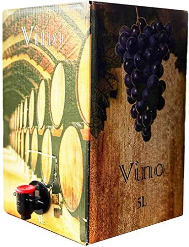 Vino Tinto joven - Formato Bag in Box de 5 Litros - Vino Tinto de Mesa - Vino Tinto Cosechero - Disfrute las ventajas de tener un buen vino que acompaña a todo tipo de comidas y tapas