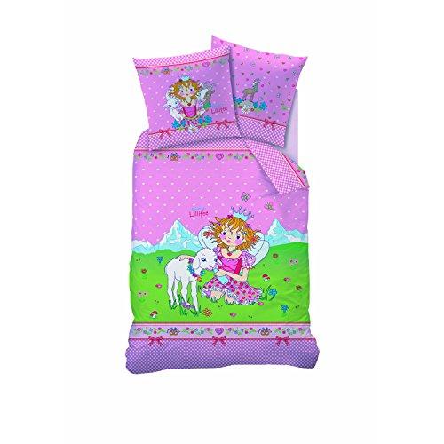 CTI Kinderbettwäsche Bettwäsche Prinzessin Lillifee Bergkristall in Flanell/Biber 80 x 80 135 x 200
