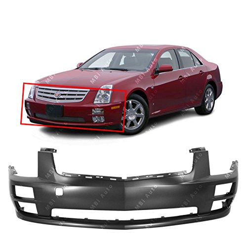 MBI AUTO - Primered, Front Bumper Cover Fascia Replacement for 2005 2006 2007 Cadillac STS 05 06 07, GM1000756