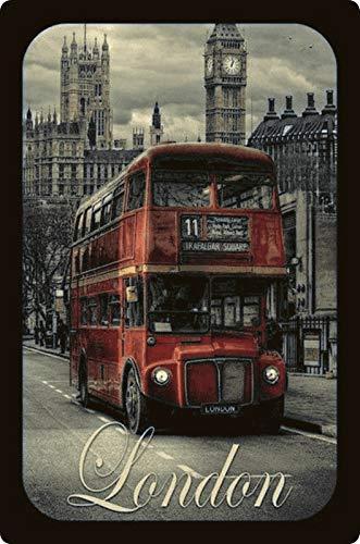 Generisch blikken bord 20x30 reclame affiche London Bus Big Ben nostalgie metalen bord