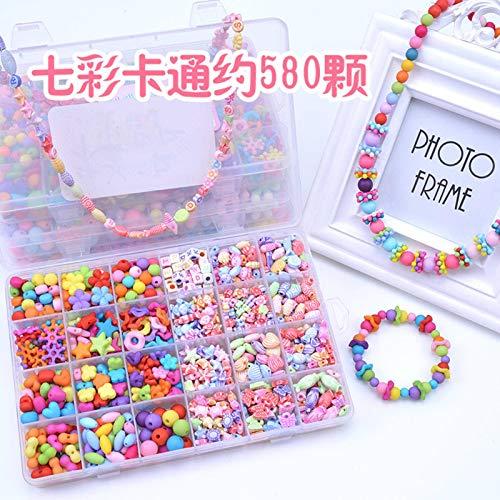N-B Juguetes hechos a mano para niños, kit de fabricación de joyas, guía a los niños para diseñar y hacer exquisitas pulseras, sombreros, collares y anillos, para niños de 4, 5, 6, 7, 8 (2 unidades)