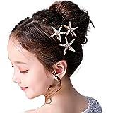 3 Pcs Starfish Hair Clip Bridal Flower Girl Accessories for Wedding