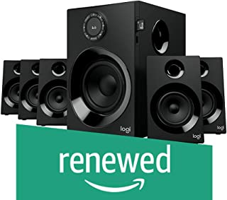 (Renewed) Logitech Z607 5.1 Surround Sound Speaker System with Bluetooth (Black)