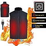 Roebii Gilet Chauffant électrique pour Femmes Et Hommes, Lavable Ajustable Recharge USB Veste Chauffante Vêtements Hiver Gilet Chaud Chauffés Veste pour Chasse Plein Air Camping Randonnée