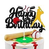 Baseball Cake Decorations Happy Birthday Baseball Softball Player Cake...
