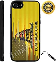 Custom iPhone 7 Case (Dont Tread On Me Best Flag) Edge-to-Edge Rubber Black Cover with Shock and Scratch Protection | Lightweight, Ultra-Slim | Includes Stylus Pen by Innosub