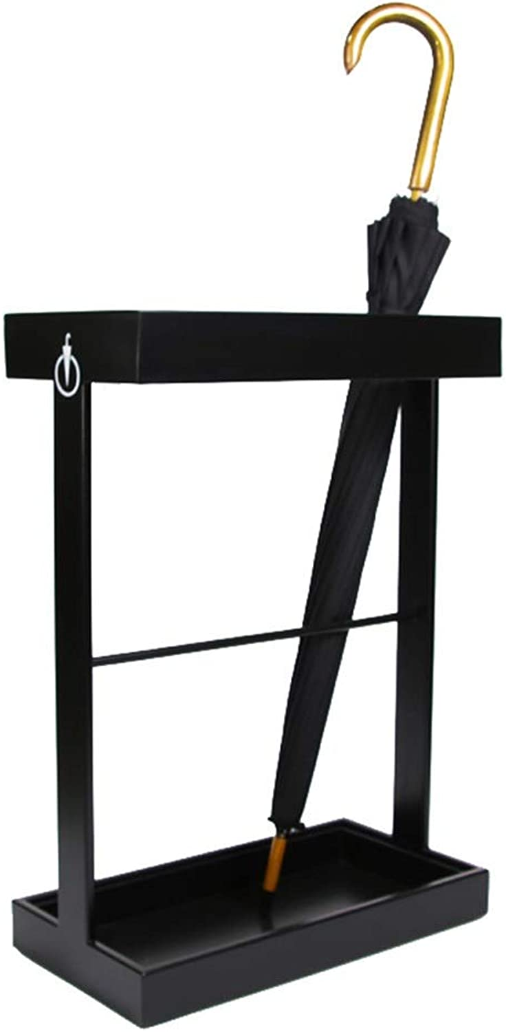 MYQ Umbrella Stand - Hotel Lobby Office Home 12 Grid Floor Umbrella Stand (color   Black)