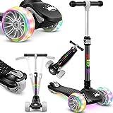 KIDIZ® Roller Kinder Scooter X-Pro2 Dreiradscooter mit PU LED Leuchtenden Räder Kinderroller...