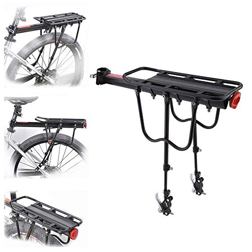 KAUTO Bike Rear Rack Luggage Bicycle Rear Carrier Quick Release Aluminum Alloy Bicycle Rack Luggage Rack Mountain Bike Bicycle Rear Rack Seat Post Package