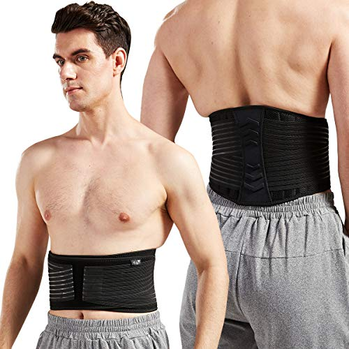 """Lumbar Support Back Brace for Men and Women (Plus Size 50"""" - 70"""")"""
