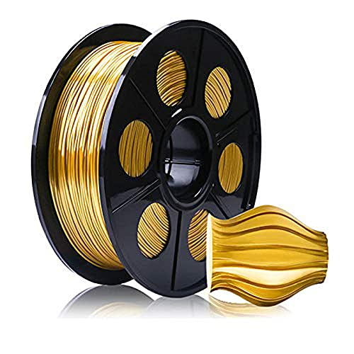 3D Printer Filament 1.75Mm, 3D Printer Consumables,PLA-Silk Filament 1 Kg (2.2 Lb), Beautiful Surface Gloss,Gold