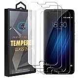 Ycloud 4 Pack Vidrio Templado Protector para Meizu M3S / Meizu M3, [9H Dureza, Anti-Scratch] Transparente Screen Protector Cristal Templado para Meizu M3S / Meizu M3