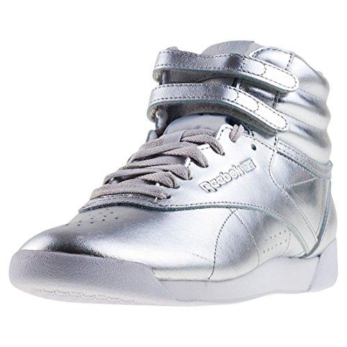 Reebok Damen Freestyle Hi Metallic Gymnastikschuhe, Silber (Silver Metsteelwhite), 38 EU