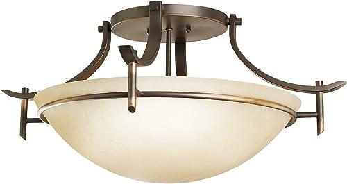 2021 Kichler discount 3606OZ Semi-Flush wholesale 3-Light, Olde Bronze online sale