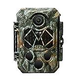Blusmart Wildkamera 32MP 4K mit 32GB SD Card Infrarot-Nachtsicht Jagdkamera mit 940nm IR LEDs,...