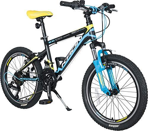KRON XC-100 Hardtail Alu Jugendfahrrad Kinderfahrrad 20 Zoll, 24 Zoll von 6-14 Jahre   21 Gang Shimano Schaltung, V-Bremse oder Scheibenbremse, Federgabel, 13 Zoll Rahmen   Kinder Mountainbike