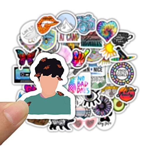 SZYND Stickers Pack For Girl Things Cartoon Sticker On Laptop Fridge Phone Skateboard Suitcase Waterproof50 Pcs