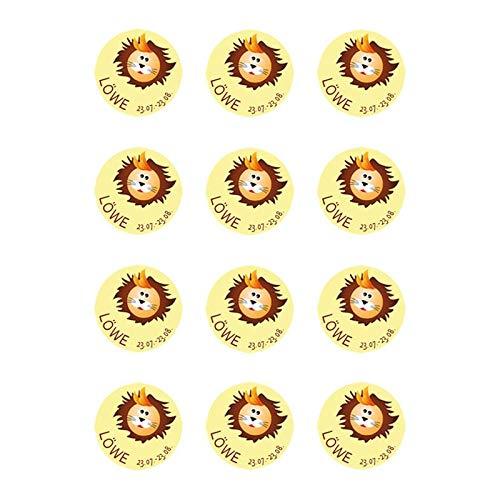Muffinaufleger Muffins Amerikaner Tortenaufleger Sternzeichen SZ01 Löwe