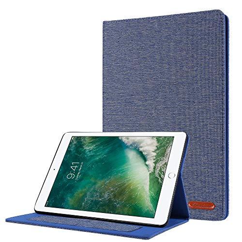 YYLKKB para el Caso de la generación de iPad 7.2 Fundas de Tela de Vaquero para iPad 10.2 2019 Tablet Funda Stand Cover Funda Caqa Coque Stylus-3
