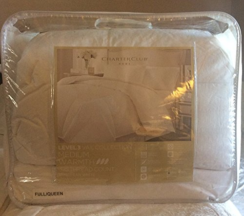 Charter Club Vail Collection 325T Medium Warmth Full/Queen Down Comforter