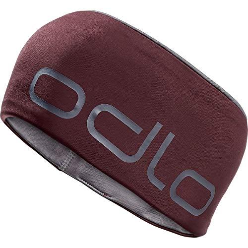 Odlo CERAMIWARM Reversible Stirnbänder, Zinfandel/Steel Grey, One Size