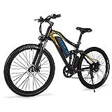 Bicicleta eléctrica GUNAI con Motor sin escobillas 500W con batería extraíble 48V 15AH agli ioni di Litio y Cambio Shimano de 7 velocidades
