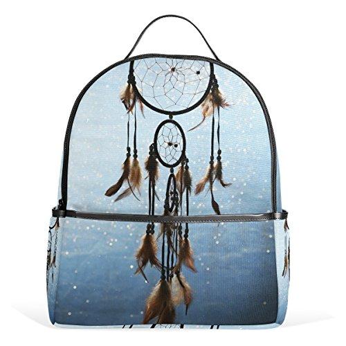 Bennigiry Beautiful Dream Catcher Blue Kids School Backpacks Bookbags for Boys Girls Teens
