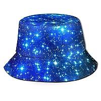この星の漁師の帽子、フルプリント、折りたたみ式の帽子、日よけ帽、バケツの帽子を印刷してください。釣り、旅行、外出、買い物などに適しています。