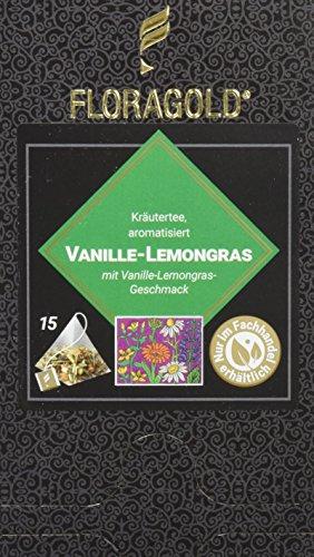 FLORAGOLD Pyramidenbeutel Kräutertee Vanille Lemongras, 1er Pack (1 x 45 g)