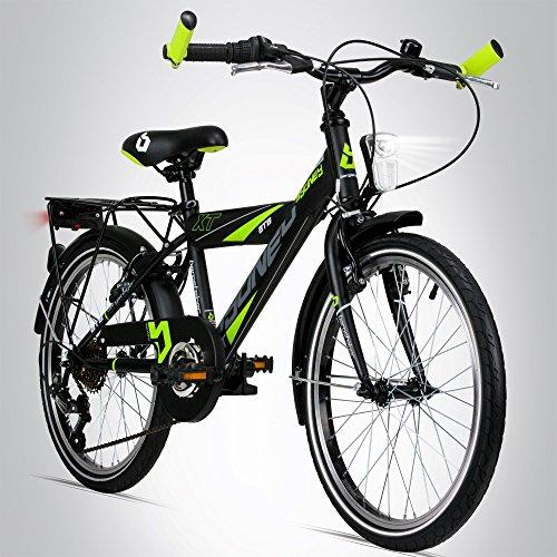 Bergsteiger Sydney 20 Zoll Kinderfahrrad, geeignet für 6, 7, 8, 9 Jahre, StVZO, Shimano 6 Gang-Schaltung, Jungen-Fahrrad mit Dynamo-Licht